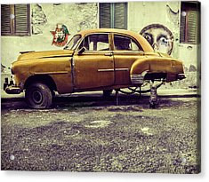 Old Car/cat Acrylic Print by Svetlin Yosifov