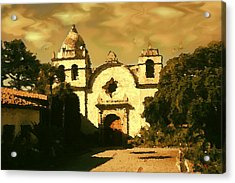 Old Carmel Mission - Watercolor Acrylic Print