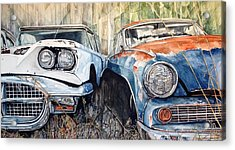Old Cars Acrylic Print by Lance Wurst