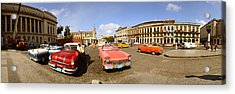 Old Cars On Street, Havana, Cuba Acrylic Print
