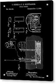 Old Casket Patent Acrylic Print