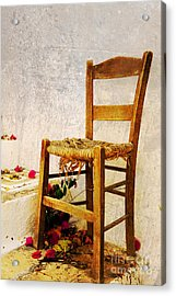 Old Chair Acrylic Print by Christos Dimou