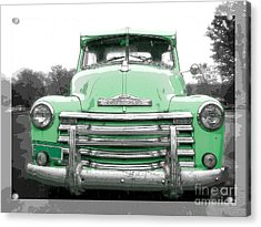 Old Chevy Pickup Truck Acrylic Print by Edward Fielding