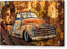 Old Chevy Rust Acrylic Print