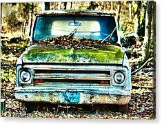 Old Chevy Truck Acrylic Print by Lorri Crossno