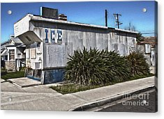 Old Chino Ice House Acrylic Print by Gregory Dyer
