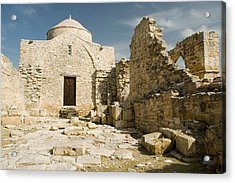 Old Church Anogyra  Acrylic Print