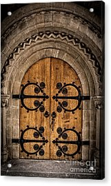 Old Church Door Acrylic Print by Edward Fielding