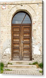 Acrylic Print featuring the photograph Old Church Door by Les Palenik