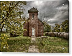 Old Church In Fall Acrylic Print