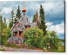 Old Church In Forest 2 Acrylic Print