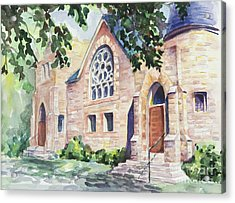 Old Church Acrylic Print by Svetlana Howe