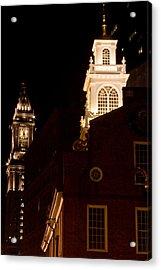 Old City Hall And Custom House Tower Acrylic Print