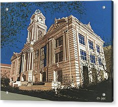Old City Hall Reversed Reverse Acrylic Print by Paul Guyer