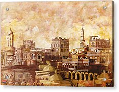 Old City Of Sanaa Acrylic Print by Catf