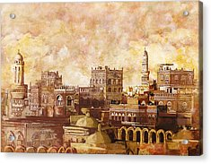 Old City Of Sanaa Acrylic Print by Corporate Art Task Force