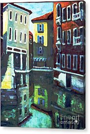 Old City Of Venice In Sunlight Acrylic Print by Rita Brown