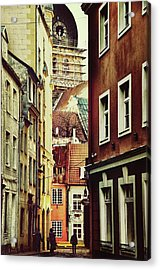 Old City Street Acrylic Print by Gynt