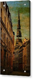 Old City Street - Stylized To Old Image Acrylic Print by Gynt