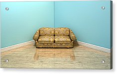 Old Classic Sofa In A Room Acrylic Print