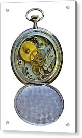Old Clock Acrylic Print by Michal Boubin