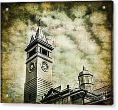 Old Clock Tower Acrylic Print by Perry Webster