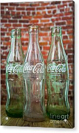 Old Cola Bottles Acrylic Print by Serene Maisey