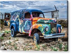 Old Colored Truck Acrylic Print