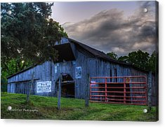 Old Conasauga Barn  Acrylic Print by Paul Herrmann