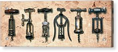 Old Corkscrews Painting Acrylic Print by Jon Neidert