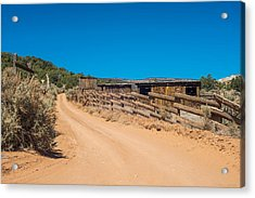 Old Corral Acrylic Print by Phil Abrams