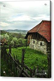 Old Cottage Acrylic Print by Jelena Jovanovic
