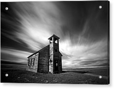 Old Cottonwood Church In Black And White Acrylic Print