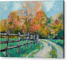 Old Country Road Acrylic Print by Michael Creese