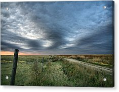 Acrylic Print featuring the photograph Old Country Road by Shirley Heier