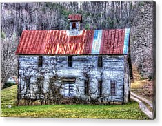 Old Country Schoolhouse Acrylic Print by Tom Culver