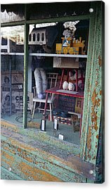 Old Country Store Display In Virginia Acrylic Print by Thomas D McManus