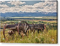 Old Country Wagon Mountains Acrylic Print by Rob Moses