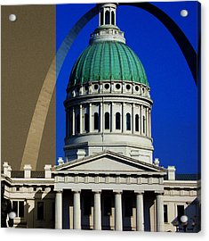 Old Courthouse Dome Arch Acrylic Print