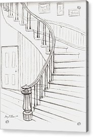 Old Courthouse Stairs Number Two Acrylic Print by Stacy C Bottoms