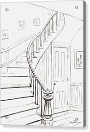 Old Courthouse Stairs Number One Acrylic Print by Stacy C Bottoms