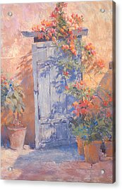 Old Courtyard Door Acrylic Print by Jackie Simmonds