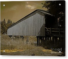 Old Covered Bridge  Acrylic Print by Beverly Guilliams