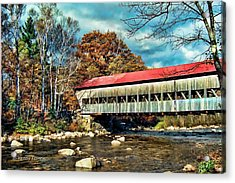 Old Covered Bridge Acrylic Print by Kenny Francis