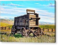 Old Covered Wagon Acrylic Print by Athena Mckinzie