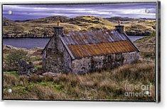 Old Croft Near Scalpay Isle Of Lewis Acrylic Print by George Hodlin
