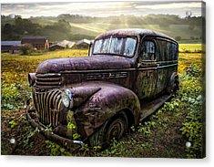 Old Dairy Farm Truck Acrylic Print by Debra and Dave Vanderlaan