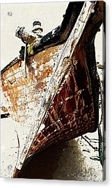 The Old Dhow Acrylic Print by Peter Waters