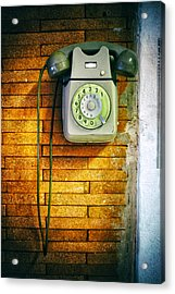 Acrylic Print featuring the photograph Old Dial Phone by Fabrizio Troiani