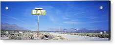 Old Diner Sign, Highway 395 Acrylic Print by Panoramic Images